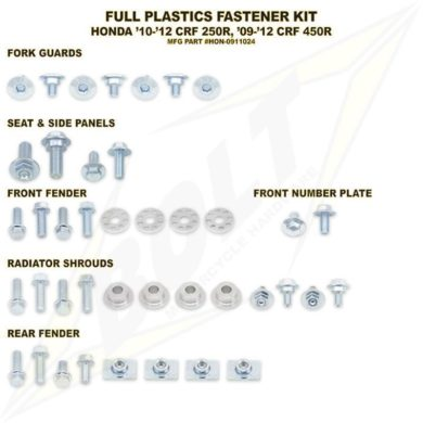 BOLT Schraubenkit für Plastikteile CRF 450 13-16, CRF 250 14-17