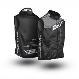 S3 Racing Weste Schwarz/Silber Größe M