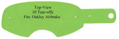 Abreißscheiben 10er Pack Oakley Airbrake