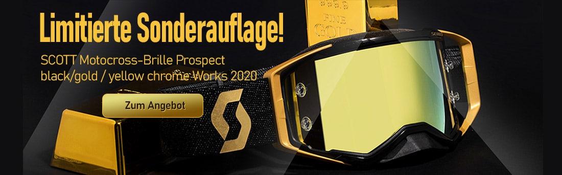SCOTT Motocross-Brille Prospect black/gold / yellow chrome Works 2020